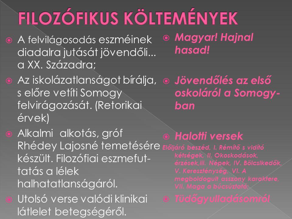 FILOZÓFIKUS KÖLTEMÉNYEK