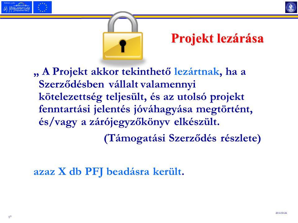 Projekt lezárása
