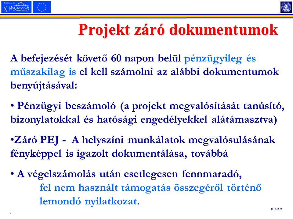 Projekt záró dokumentumok