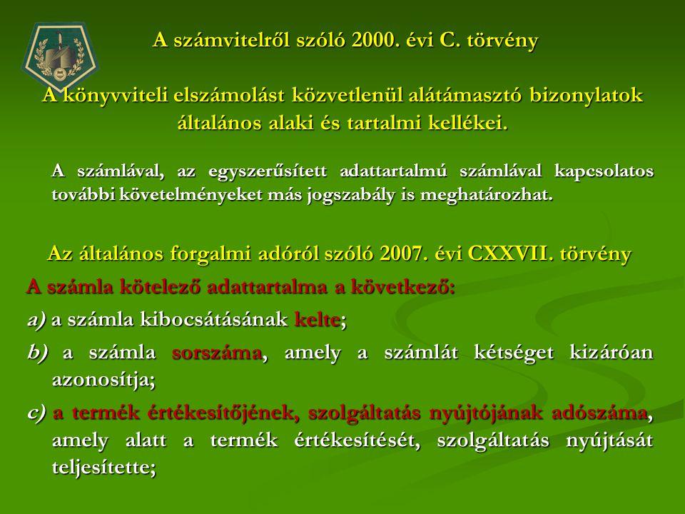 Az általános forgalmi adóról szóló 2007. évi CXXVII. törvény