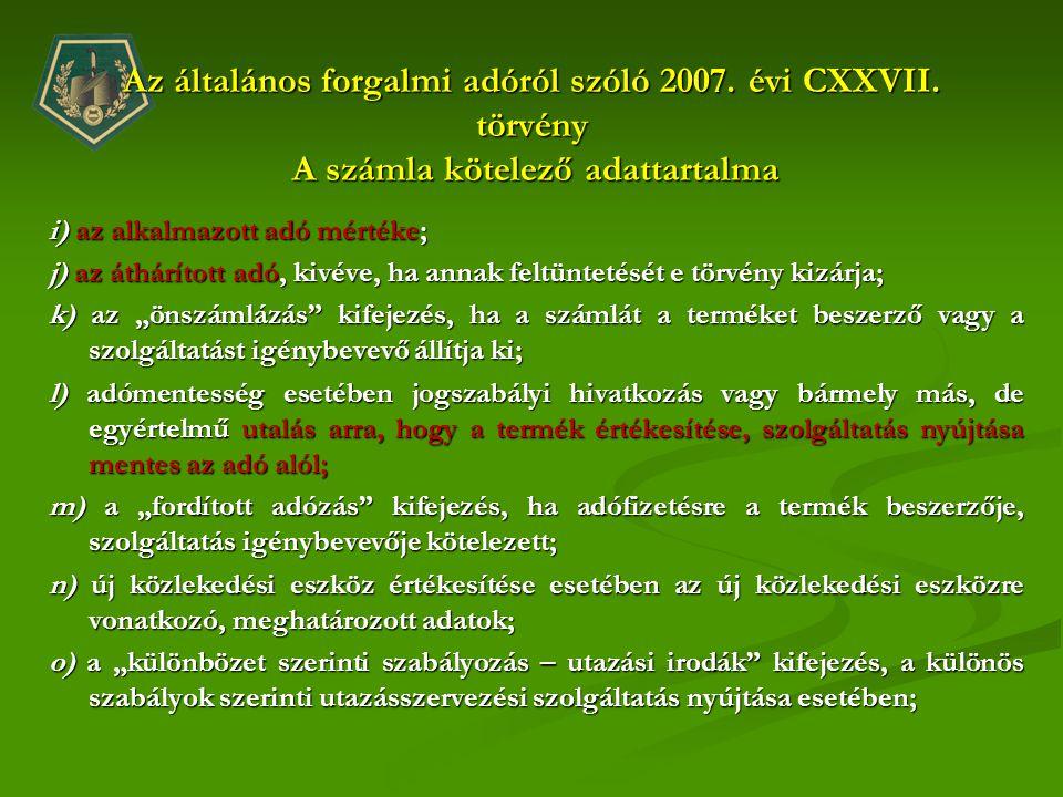 Az általános forgalmi adóról szóló 2007. évi CXXVII
