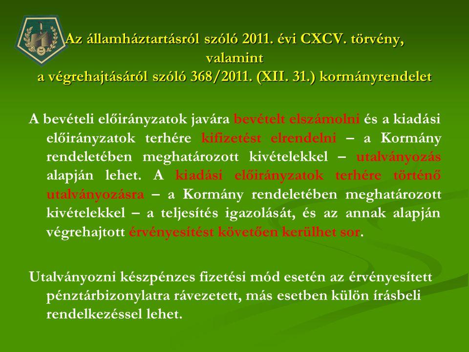 Az államháztartásról szóló 2011. évi CXCV