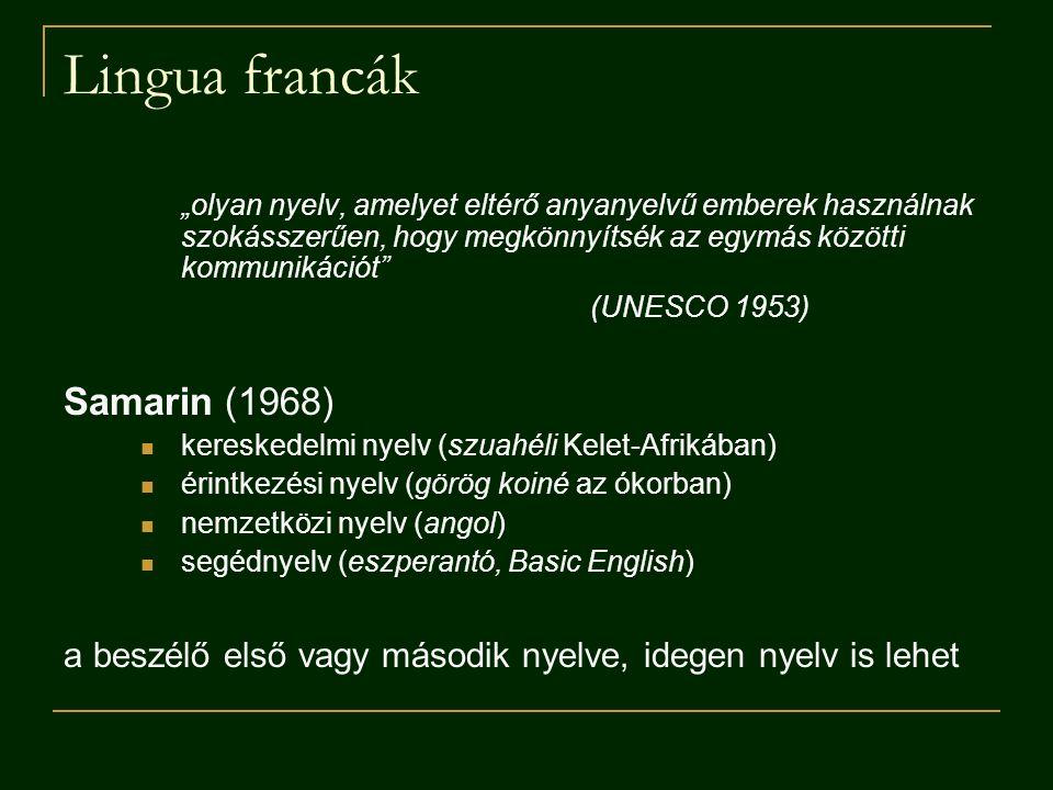 Lingua francák Samarin (1968)