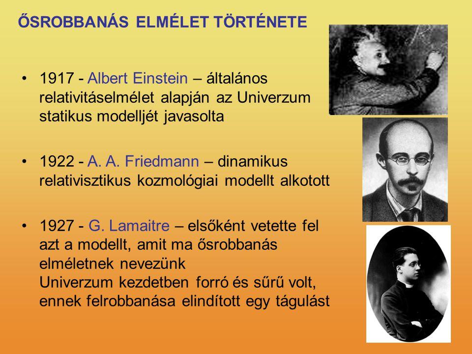ŐSROBBANÁS ELMÉLET TÖRTÉNETE