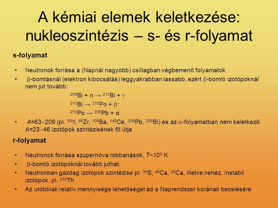 A kémiai elemek keletkezése: nukleoszintézis – s- és r-folyamat