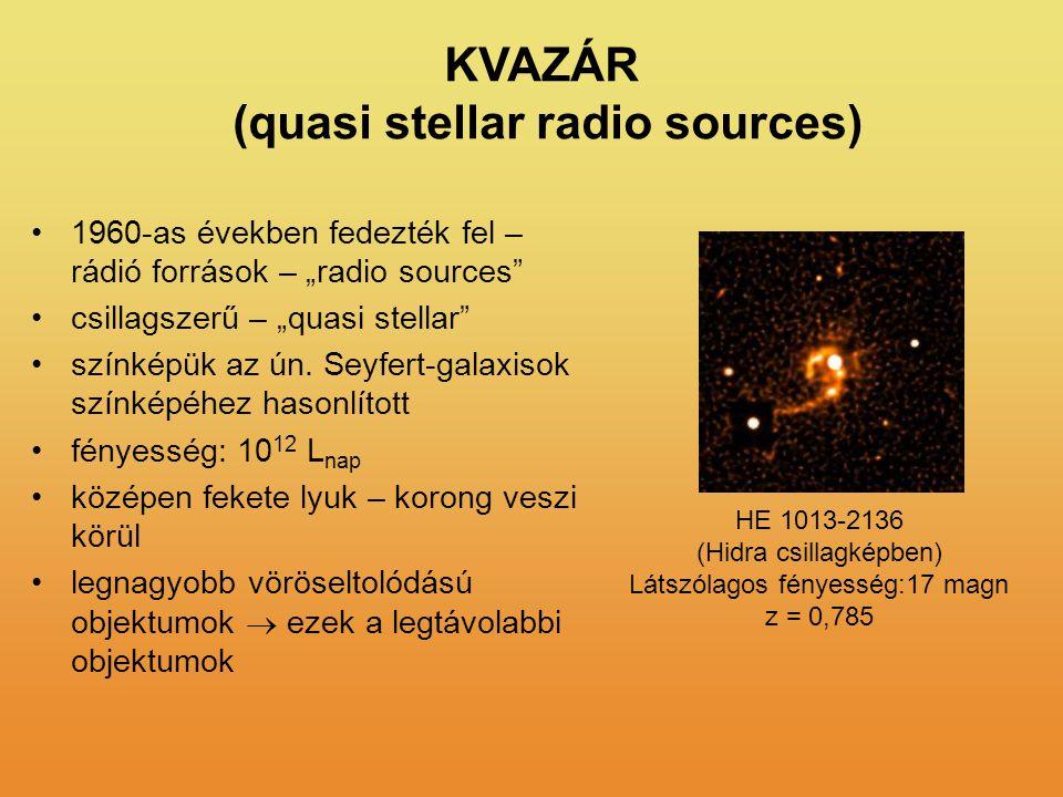 (quasi stellar radio sources)