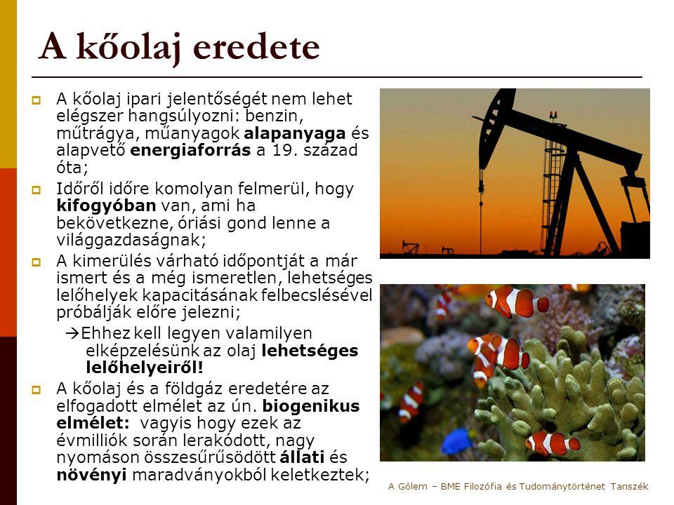 A kőolaj eredete