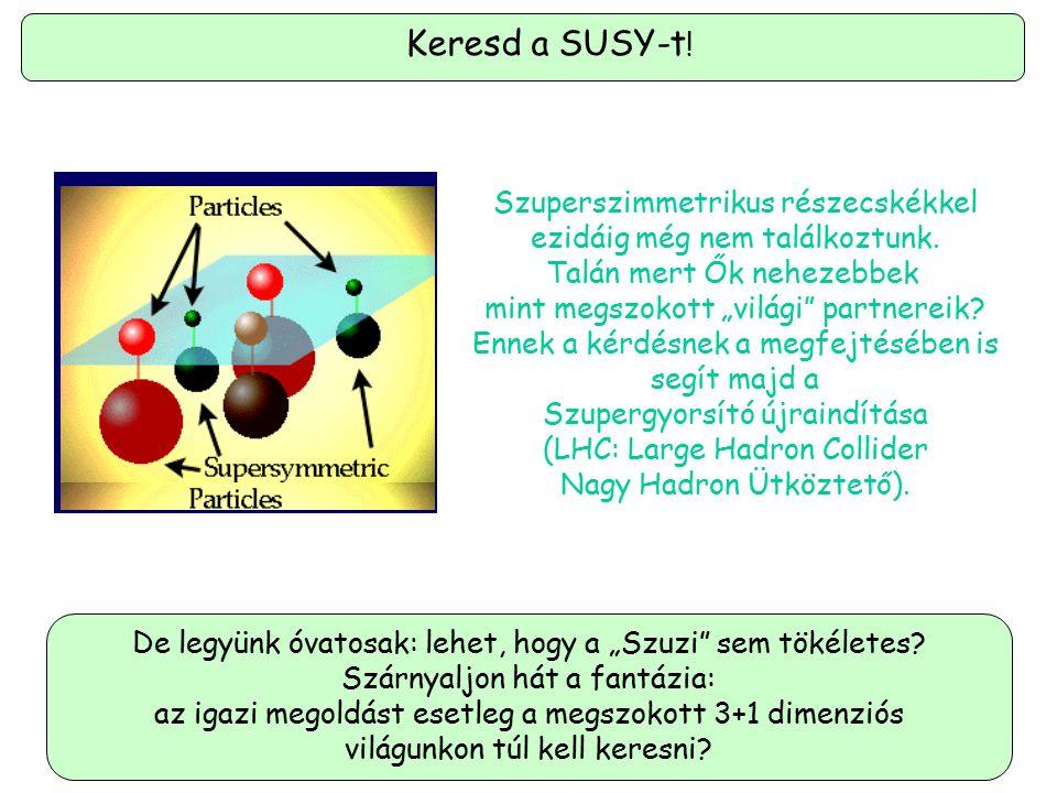 Keresd a SUSY-t! Szuperszimmetrikus részecskékkel