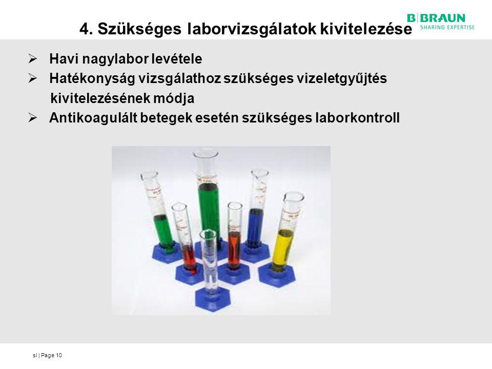 4. Szükséges laborvizsgálatok kivitelezése