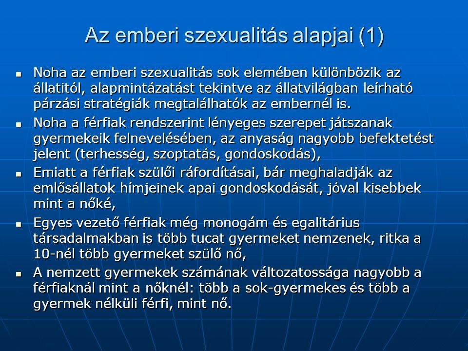 Az emberi szexualitás alapjai (1)