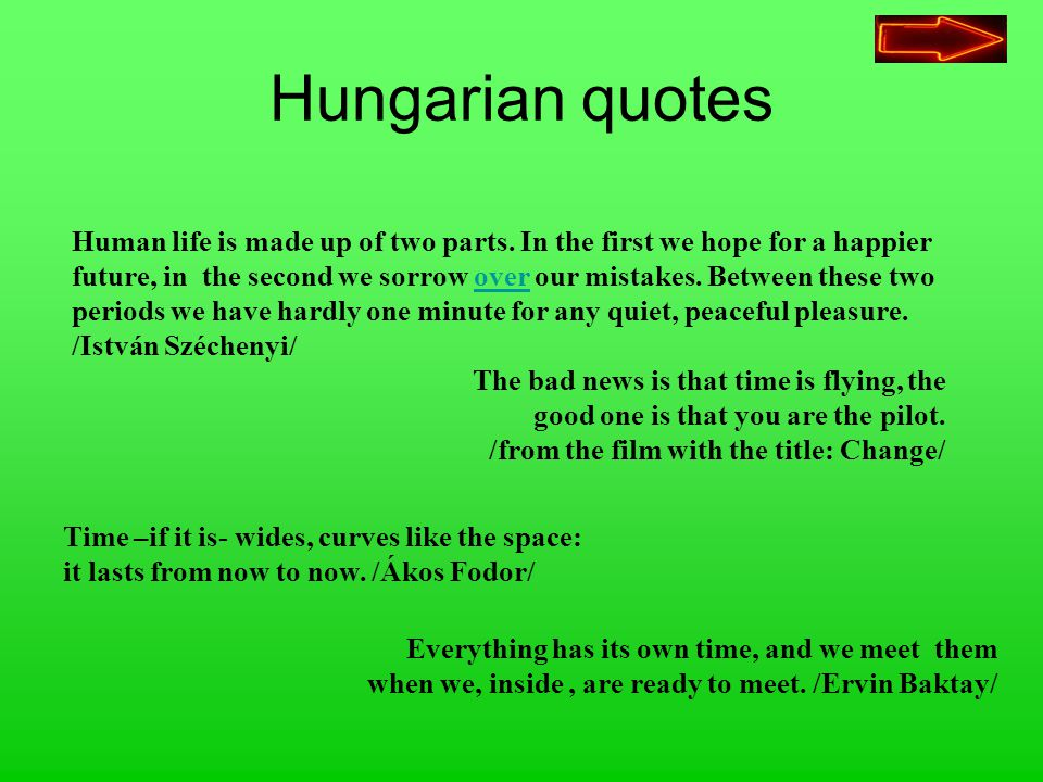 Hungarian quotes