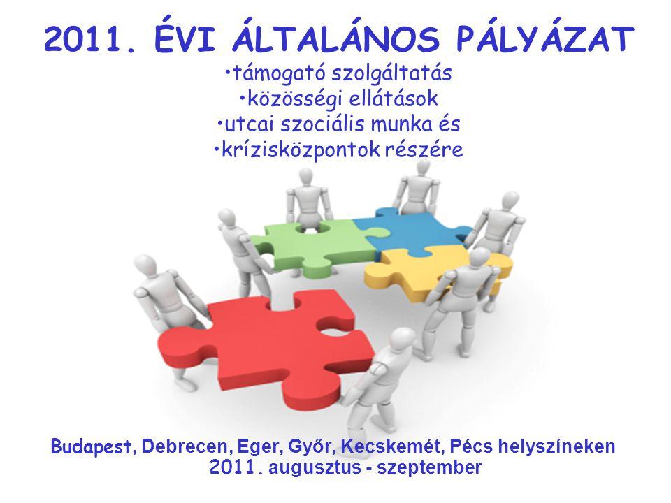 2011. ÉVI ÁLTALÁNOS PÁLYÁZAT