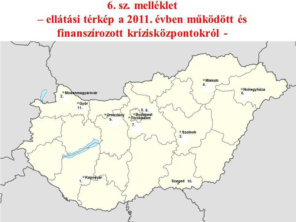 6. sz. melléklet – ellátási térkép a 2011