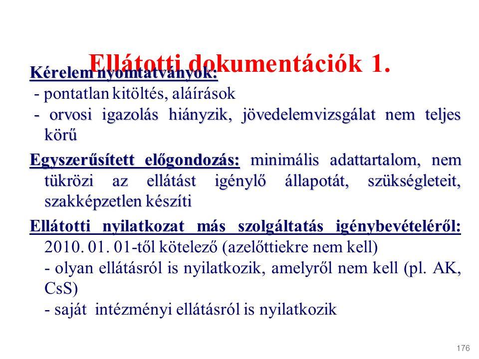 Ellátotti dokumentációk 1.