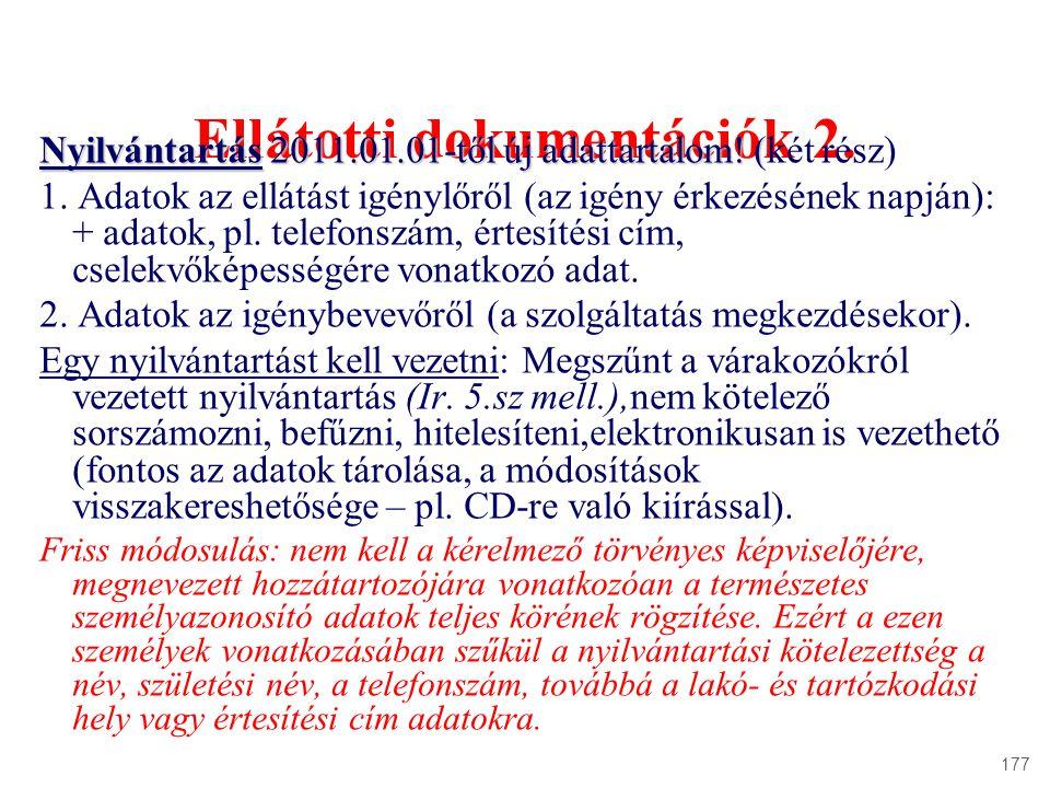 Ellátotti dokumentációk 2.