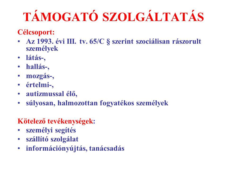 TÁMOGATÓ SZOLGÁLTATÁS