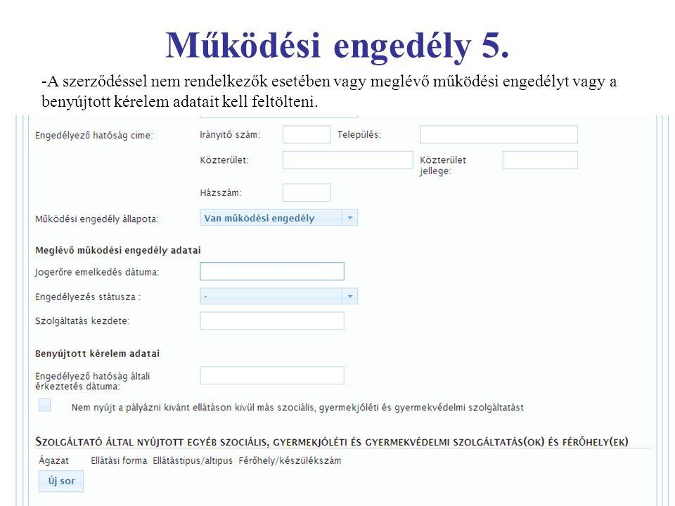 Működési engedély 5.