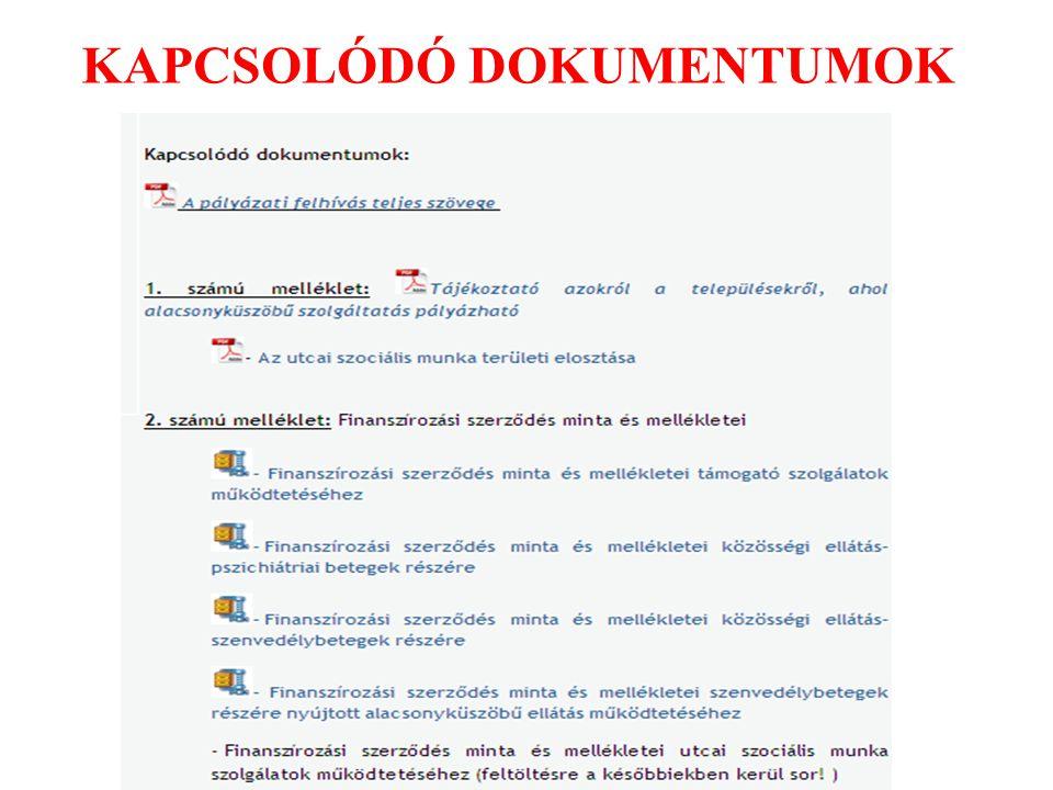 KAPCSOLÓDÓ DOKUMENTUMOK