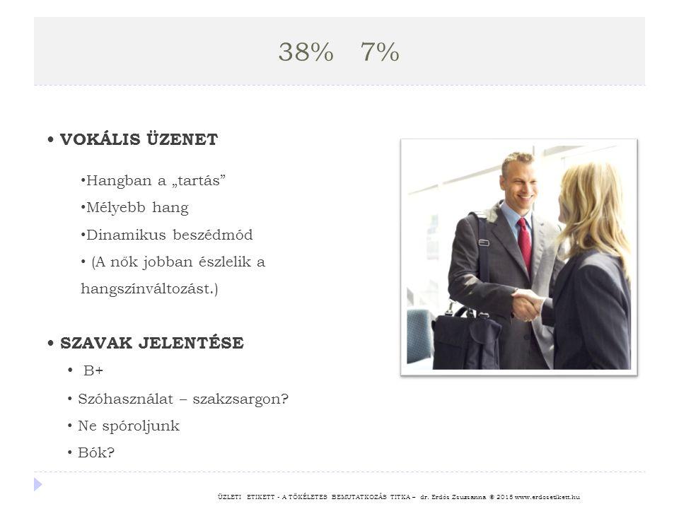 """38% 7% • VOKÁLIS ÜZENET • SZAVAK JELENTÉSE B+ Hangban a """"tartás"""