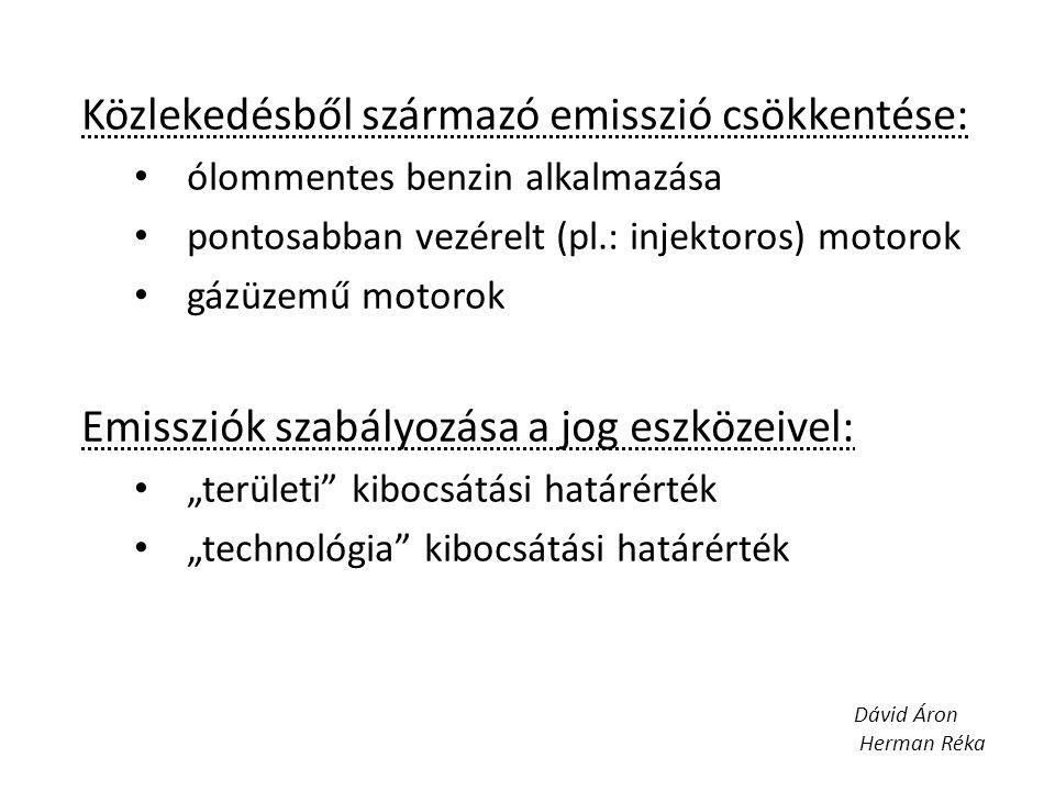 Közlekedésből származó emisszió csökkentése: