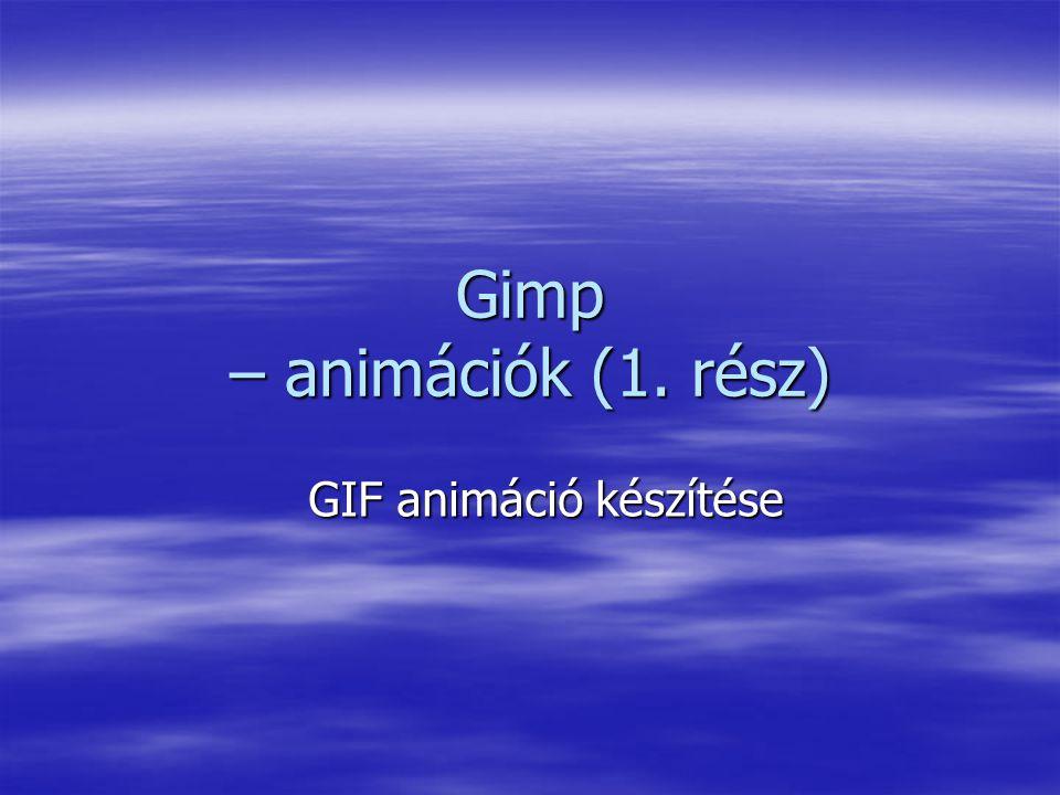 Gimp – animációk (1. rész)