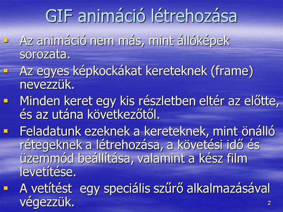 GIF animáció létrehozása