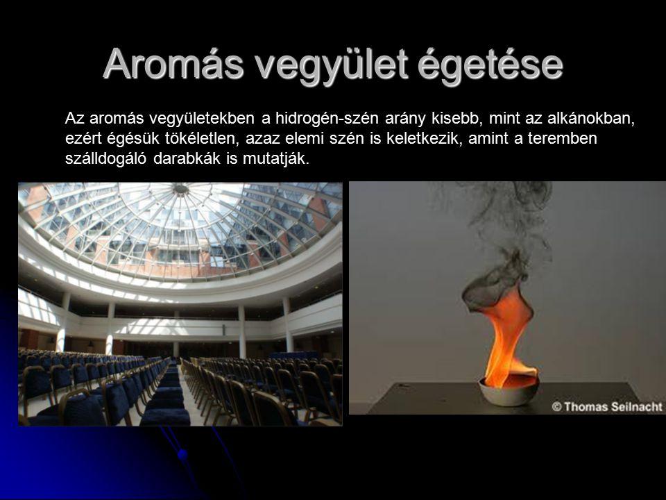 Aromás vegyület égetése