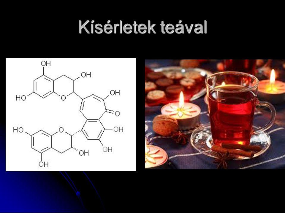 Kísérletek teával