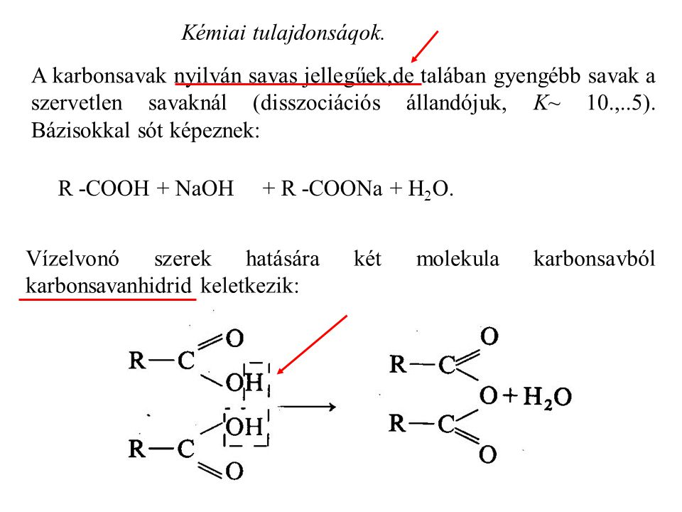 Kémiai tulajdonsáqok.
