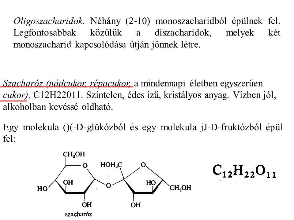 Egy molekula ()(-D-glükózból és egy molekula jJ-D-fruktózból épül fel: