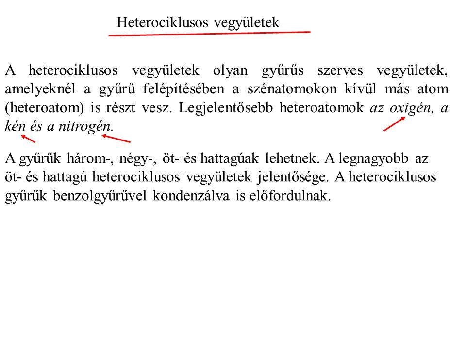 Heterociklusos vegyületek