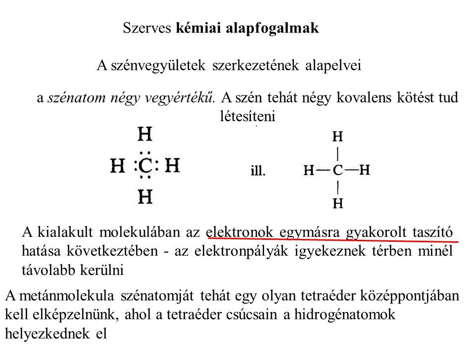 Szerves kémiai alapfogalmak