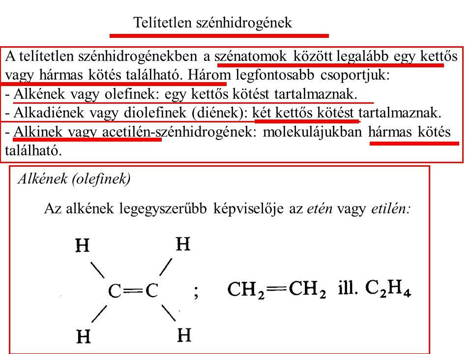 Telítetlen szénhidrogének
