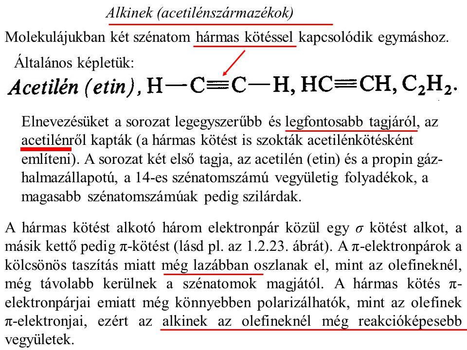 Alkinek (acetilénszármazékok)