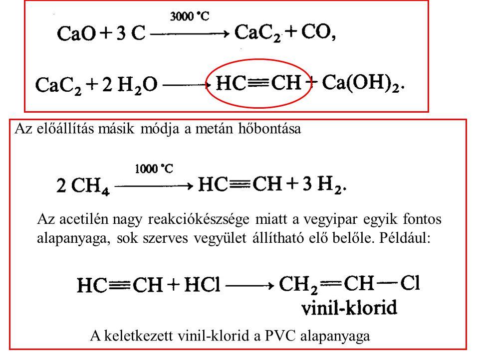Az előállítás másik módja a metán hőbontása
