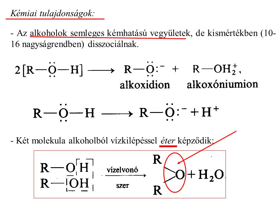 Kémiai tulajdonságok: