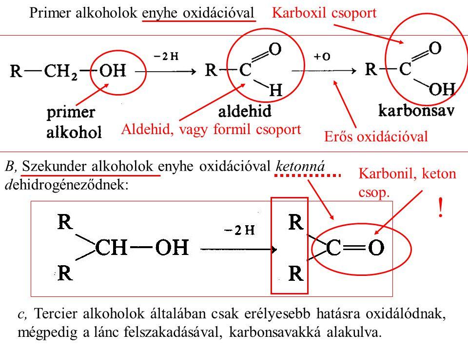 Primer alkoholok enyhe oxidációval