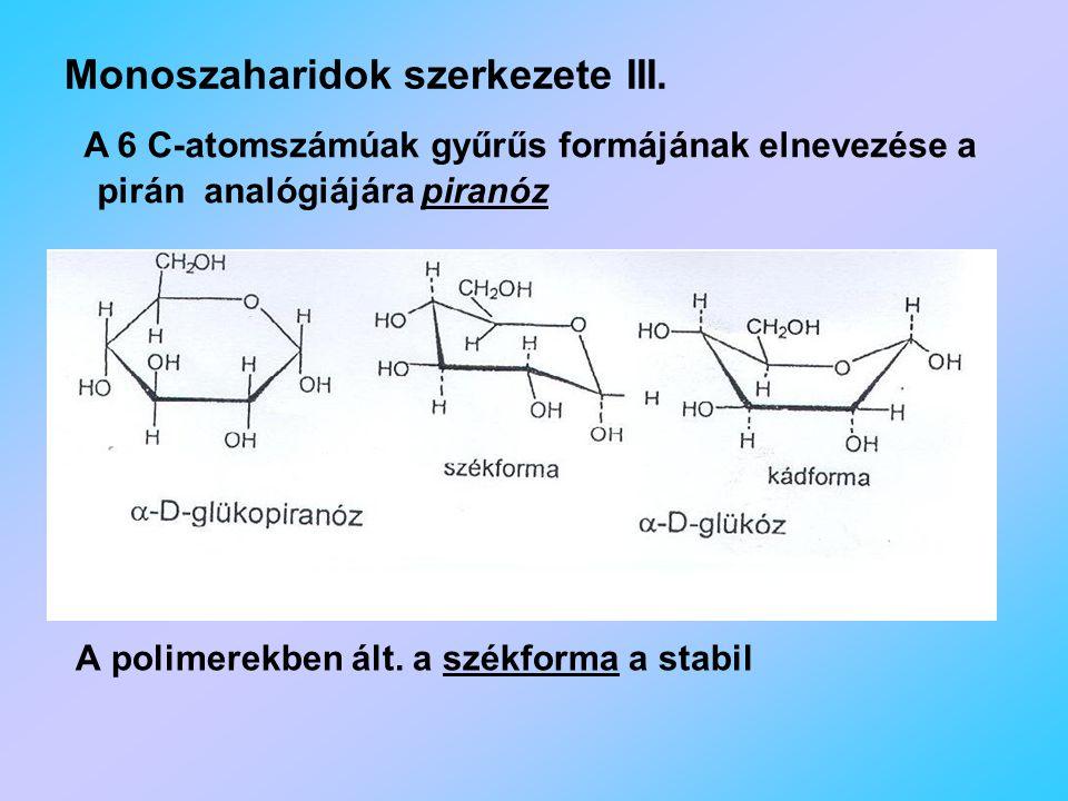 Monoszaharidok szerkezete III.