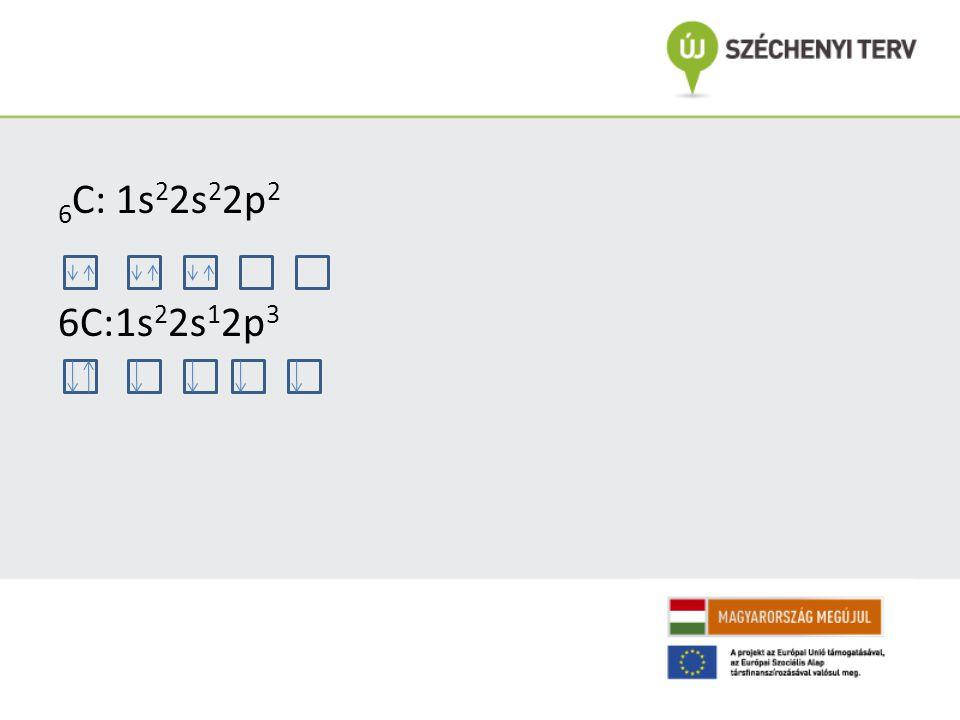 6C: 1s22s22p2 6C:1s22s12p3