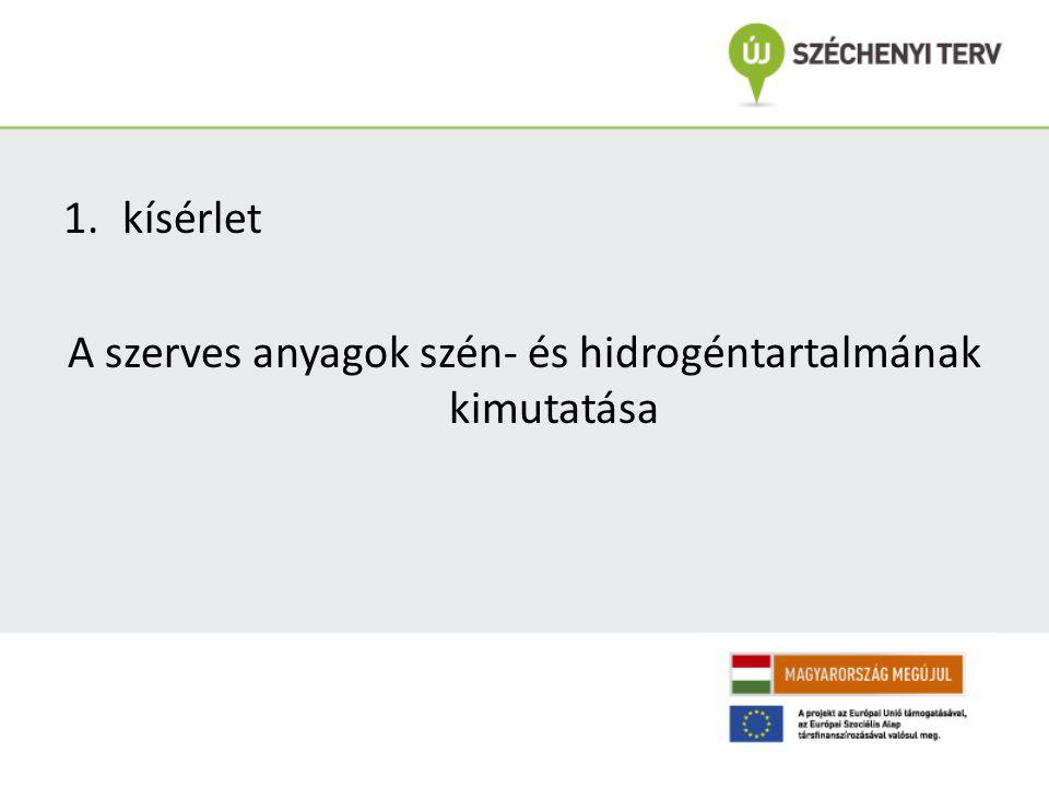 A szerves anyagok szén- és hidrogéntartalmának kimutatása