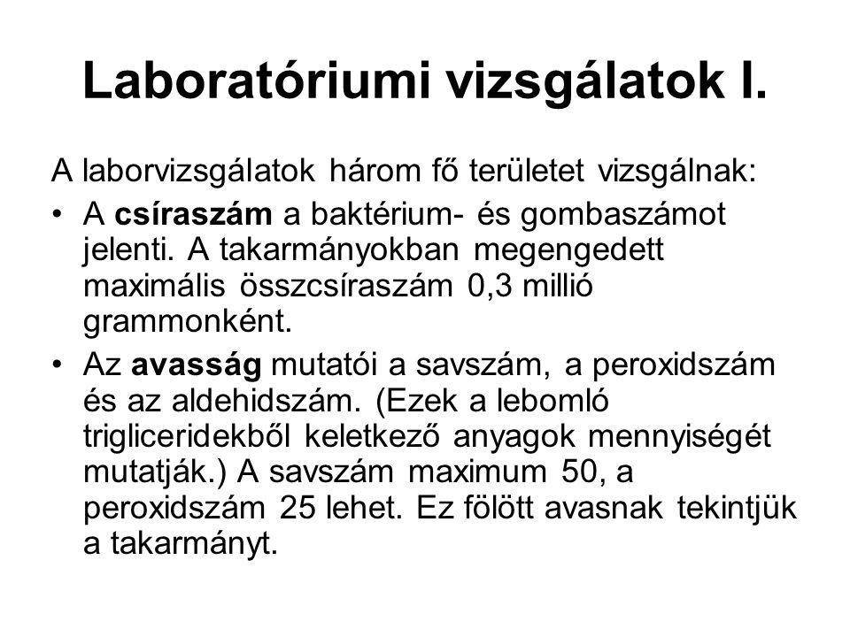 Laboratóriumi vizsgálatok I.