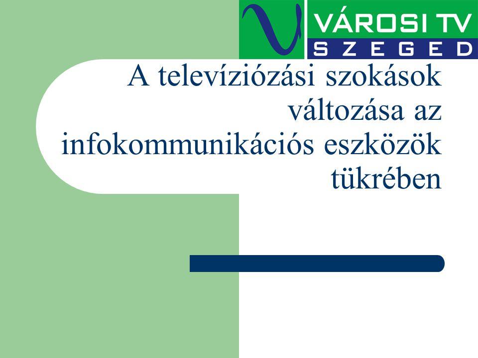 A televíziózási szokások változása az infokommunikációs eszközök tükrében