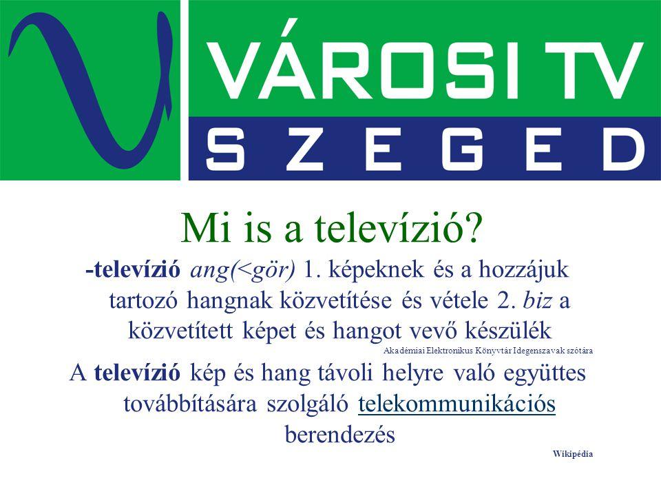 Mi is a televízió