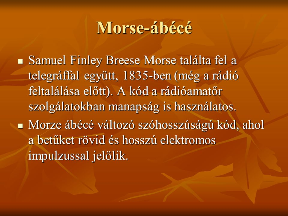 Morse-ábécé
