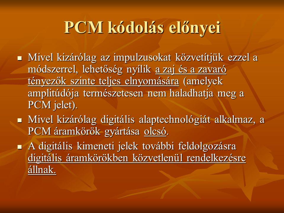 PCM kódolás előnyei