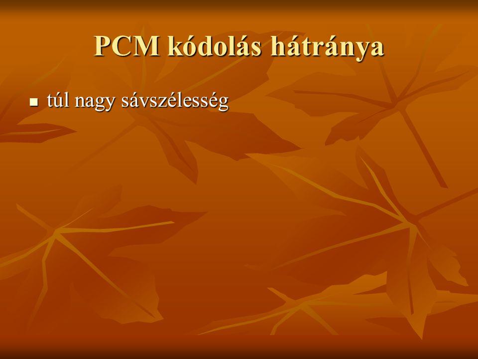 PCM kódolás hátránya túl nagy sávszélesség