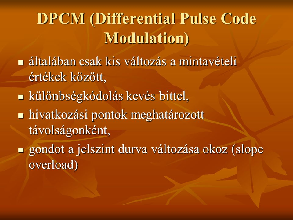 DPCM (Differential Pulse Code Modulation)