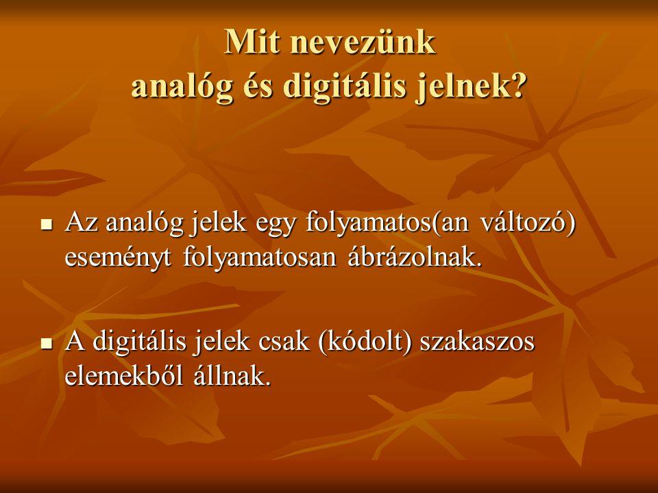 Mit nevezünk analóg és digitális jelnek