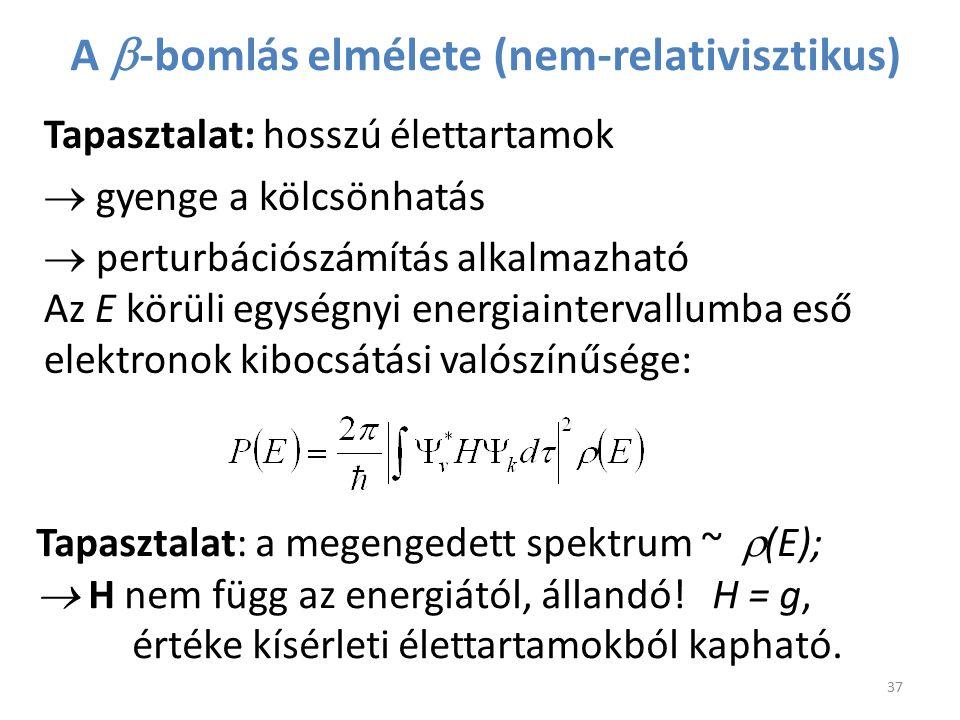 A b-bomlás elmélete (nem-relativisztikus)