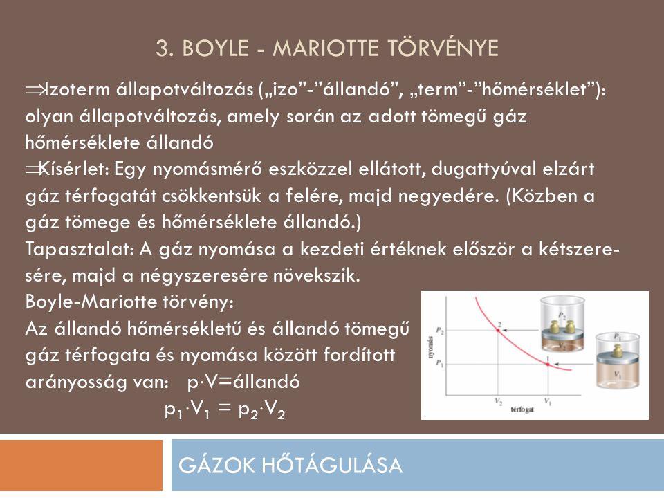 3. Boyle - mariotte törvénye